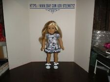 "American Girl 18"" Doll Blonde Hair Blue Eyes and pierced ears"