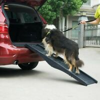 Black Folding Pet Ramp for Home or Cars/Trucks/SUVs (For Pets up to 110 lbs)