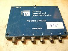 TRM DMS-605 1-2 GHz 6 Way Power Divider - SMA Used