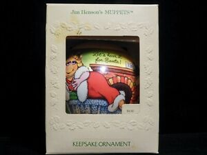 Hallmark Christmas Satin Ball Ornament Jim Henson's Muppets 1981