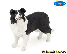 Papo BORDER COLLIE solid plastic toy farm pet animal sheep dog sheepdog 💥