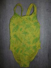 Girls Green Tropical Print Swimming Costume Age 2 Years