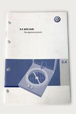 Originales de VW MFD DVD Navi manual de instrucciones bda guía manual alemán