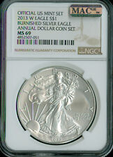2013-W SILVER EAGLE NGC MAC MS-69 PQ ANNUAL SET 2nd FINEST GRADE MAC SPOTLESS .