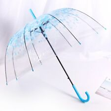 JP Cherry Blossom Transparent Umbrella Beautiful Clear Dome Bubble umbrella