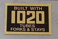 Motobecane 1020 Tubing Decal - Mirror Gold on Black (sku Moto803)