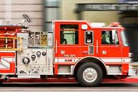 Fire Truck in Motion Photo Art Print Poster 24x36 inch