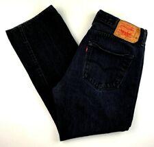 Levi's Men's Jeans Size 36 x 30 501 Classic Fit Straight Leg Black Denim