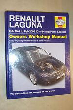 RENAULT LAGUNA HAYNES WORKSHOP MANUAL PETROL TURBO-DIESEL GT SPORT 2001-05 X-54