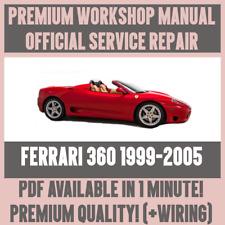 * atelier manual Service & Repair Guide pour Ferrari 360 1999-2005 + Câblage
