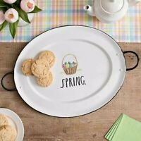 Rae Dunn Spring / Easter Enamel Tray With Handles
