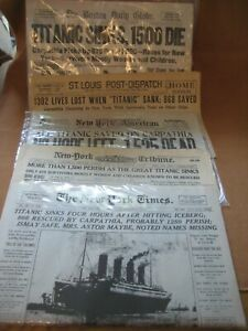 5  different Sinking of the Titanic News Papers reprints? The Boston Daily Globe