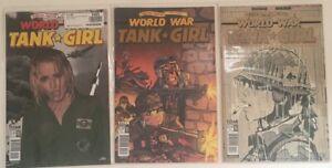 TANK GIRL WORLD WAR #1 3 4 1st print set TITAN 2017 C: LORI PETTY movie photo