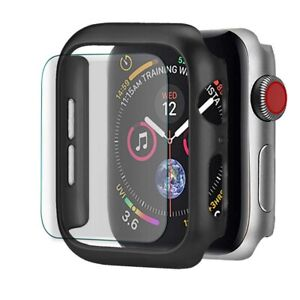 Fr Apple Watch Series 4/5/6/SE Bumper Case Cover+Tempered Glass Screen Protector
