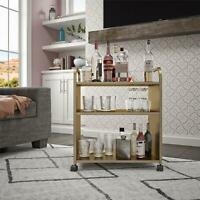 Aubrie Bar and Serving Cart, Gold