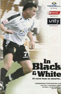 Port Vale v Huddersfield Town  11-Sep-2004