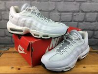 NIKE MENS UK 7 EU 41 AIR MAX 95 ESSENTIAL TRAINERS WHITE GREYRRP £145 M