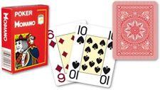 Modiano Voll Plastik Romme Karten 52er Blatt mit 3 Joker Rot Red Poker