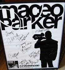"""Maceo Parker Poster signed by Maceo and the Band to Denny Egan Funkoverload"""""""