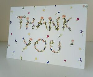 Greeting Card - Mixed Flowers Thank You (Blank Inside)