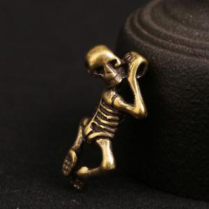 Skeleton Retro Car Pendant Keychains Lanyard Hanging Handmade Knife EDC Vintage