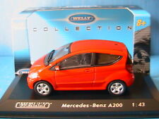 MERCEDES A200 RED WELLY 1/43 ROSSO ROUGE ROT WAGEN CAR GERMANY DIE CAST MODEL