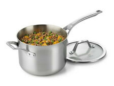 Calphalon Accucore 3 Qt. Saucepan W. Lid  Stainless Steel, Alluminum, Copper New
