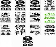 SET OF LANDROVER Vinyl Stickers/ Decals (13 images and 13 colors to choose from)