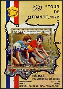 Equatorial Guinea 1972 Tour De France Cycling Cto Used M/S #E4060