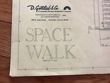 Original Gottlieb Space Walk EM Pinball Machine Manual Schematics FREE SHIP