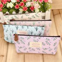 Vintage Flower Floral Pencil Pen Case Bag Cosmetic Makeup Storage Bag Purse Tool