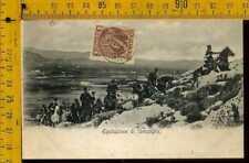 Cartolina militare coloniale Grecia lk 228 equitazioe da campagna