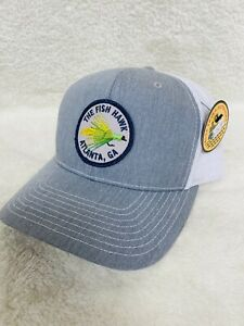"NWT ""The Fish Hawk"" Atlanta, GA - Patch Mesh Trucker Hat Cap Gray Richardson 112"