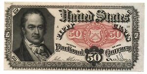 1875 US 50 Cents Note Fractional Currency