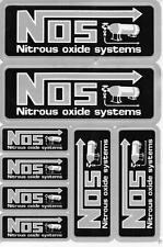 "D274 NOS N.O.S. black Racing Tuning Sticker Decal 1 Sheet 10,5""x7"" / 27x18 cm"