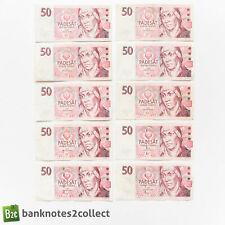 Czech Republic: 10 x 50 Czech Koruna Banknotes.