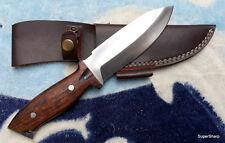 "Awesome Custom Handmade 10"" D2 Steel Hunting Tracker Knive with Rosewood handle"