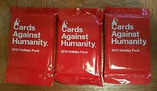 Lot of 3 New Cards Against Humanity Holiday Expansion Packs 2012 2013 2014