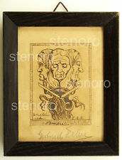 Bozzetto a china di ex libris Tre Parche - signed Gertrud Halm? 1916 tusche