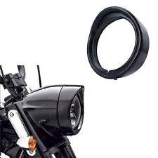 7inch LED Headlight Bezel Cap Trim Protect Guard Cover Black for Harley Davidson