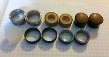 "Body Jewelry Piercing Lot Plugs Gauges Tunnels 1"" steel glass wood silicone etc"