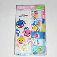 Baby Shark Pinkfong Cotton Undies 7 Panty Pack Underwear Toddler Girls 2T 3T