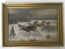 Adolf Baumgartner-Stoiloff (1850-1934) Cossacks horses saved from burning barnes