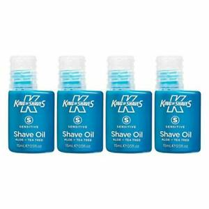 King of Shaves Mens Shaving Oil, 15ml - 4 Pack