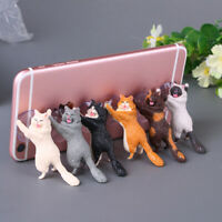 Universal Cute Cat Cell Phone Holder Tablets Desk Car Stand Mount Sucker Bracket