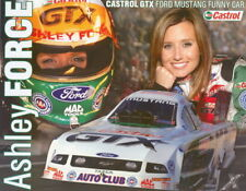 """2007 Ashley Force Castrol """"2nd issued"""" Ford Mustang Funny Car NHRA postcard"""