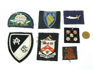 7 GIRL GUIDES Related Vintage Embroidered Cloth Badge Patches #G10