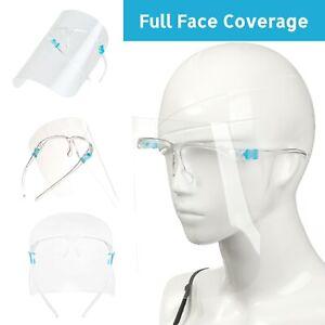 Face Shield Visor Anti Fog Clear Screen Full Face Protection Glasses Friendly PP