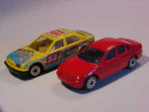 """LOT 2: Exotic 3"""" BMW 5 1990 & 5 Series 2005 Welly 98367 1/64 Diecast Mint Loose"""