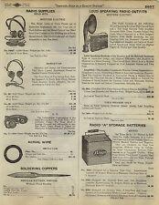 1923 Paper AD Western Electric Loud Speaker Speaking Outfit Head Set